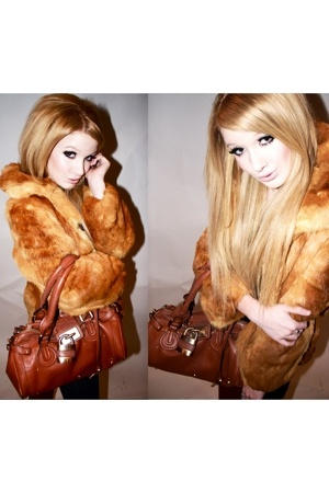 vintage coat - Chloe purse