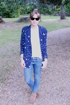 asos boots - Zara jeans - Claudie Pierlot blazer - H&M t-shirt - Ray Ban glasses
