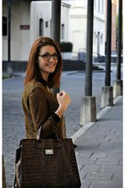 Mango bag - Zara blouse - david delfin glasses