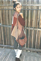 maroon The Boutique Simi Valley CA sweater - black Steve Madden wedges