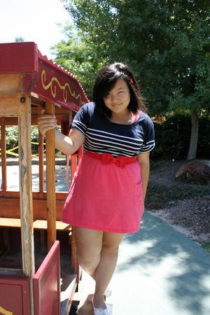 pink cotton on dress