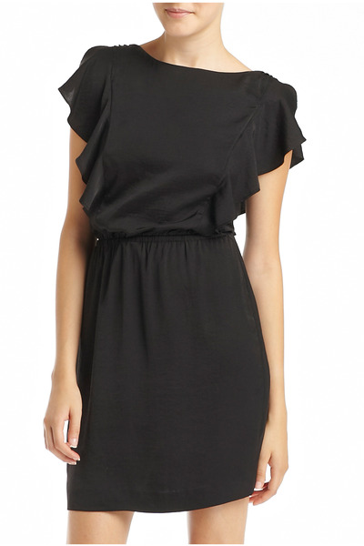 black ruffle MNG by Mango dress
