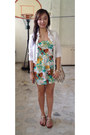 Cream-forever-21-dress-white-sunny-side-up-blazer