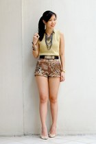 gold leopard shopabcd shorts