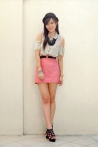 pink basic shopabcd skirt