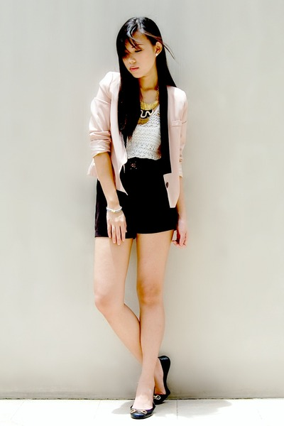 neutral Poisonberry Manila blazer