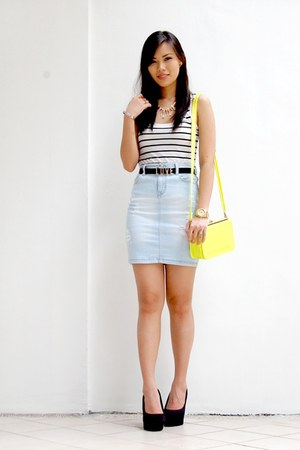 white striped H&M top