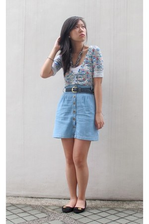 denim cotton on skirt