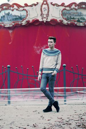 Zara boots - H&M jeans - River Island sweater