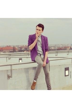 vintage blazer - Zara boots - H&M jeans - H&M shirt