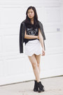 Black-cotton-on-boots-black-pleather-maple-jacket-white-apartment-8-skirt