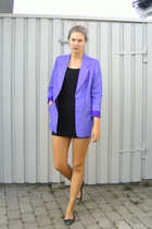 second hand blazer - Gina dress - Zara shoes
