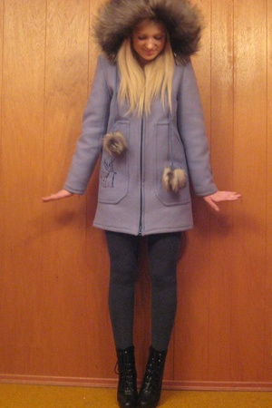 vintage jacket - tights - payless shoes