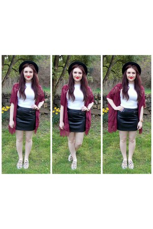 maroon Missguided cardigan
