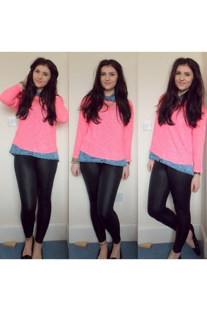 bubble gum H&M sweater