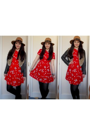 ruby red Primark dress