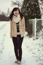 Beige-forever-21-coat-navy-lucky-spades-level-99-usa-jeans