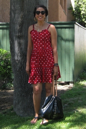 SoundGirl dress - sunglasses - shoes - Target purse