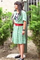 vintage from Wasteland dress - junkfood t-shirt - belt - Dr Martens shoes