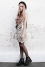 Cut-out-47-street-boots-lace-she-inside-dress