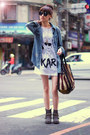 Heather-gray-boots-sky-blue-jacket-white-shirt