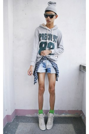 sky blue zana di shorts - white Topshop sneakers