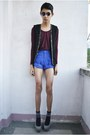 Blue-northern-getaway-shorts-black-forever-21-vest
