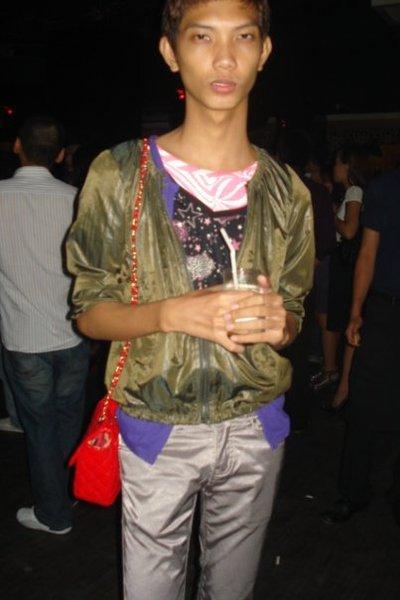 jacket - t-shirt - pants - purse