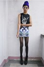 Black-punkxpretty-top-periwinkle-punkxpretty-skirt