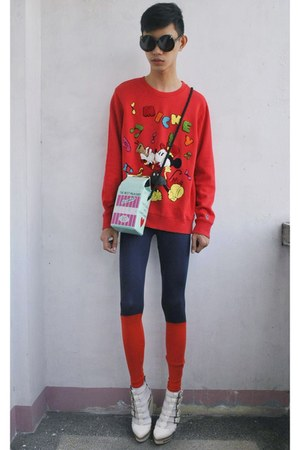 red Disney sweater
