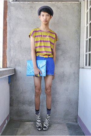 blue mysecondhand shop shorts - heather gray Gelo Arucan hat