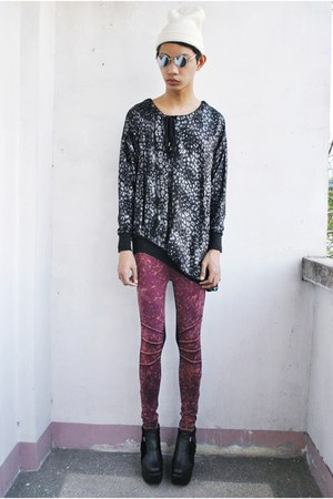 black asianvogue shop boots - black Snapshot sweater