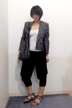 vintage blazer - from Thailand top - p&co pants - Vincci shoes - mimco bag acces