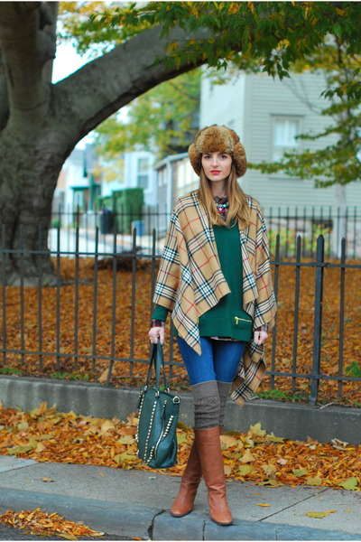camel JCrew boots - blue J Brand jeans - green Michael Kors sweater