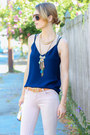 Light-pink-skinny-joes-jeans-jeans-bubble-gum-fringe-capwell-co-necklace