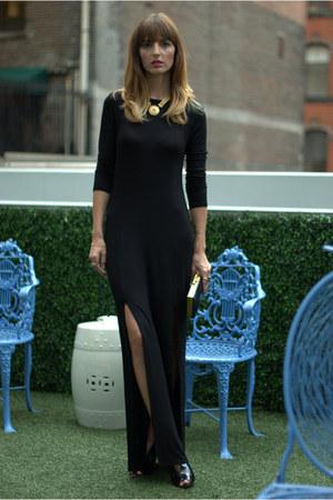 black maxi dress TJ Maxx dress - navy Marshalls heels