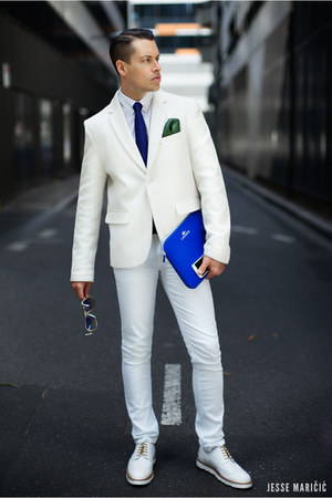 white white Lacoste blazer