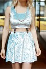 Light-blue-velvet-tooth-and-eye-top-light-blue-velvet-tooth-and-eye-skirt