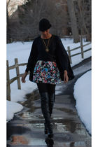 black Victorias Secret top - black Forever 21 hat - H&M skirt