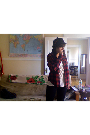 black Charlotte Russe hat - red Thrift Store shirt - white Nolli shirt - navy Ta