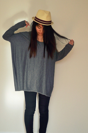 H&M sweater - f21 hat