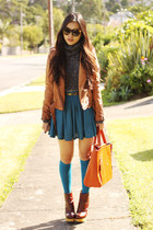 turtleneck Sparkle and Fade jumper - betsey jonhson boots - Zara Trf jacket