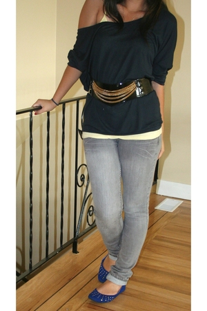 American Apparel top - H&amp;M belt - roberto vianni shoes