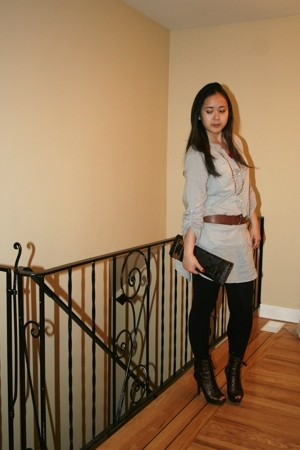 Zara blouse - Vianni Collection shoes - le chateau accessories - H&M belt - big