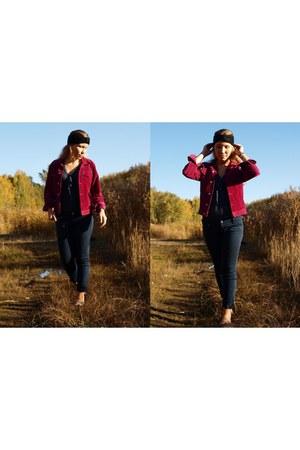 Jacket jacket - no name shoes shoes - no name headband hat - H&M T-shirt t-shirt