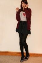 flea market sweater - Topshop t-shirt - River Island skirt - Miss Selfridge shoe