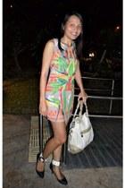 fab dress - eggshell Anna Sui bag - black DIY heels