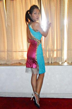 handmade DIY dress - silver Gibi heels