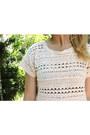 Black-american-apparel-jeans-cream-crochet-mossimo-supply-co-top