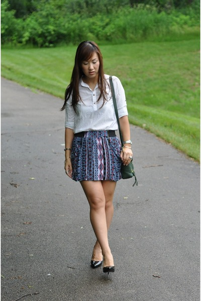 charcoal gray tribal print Charlotte Russe skirt